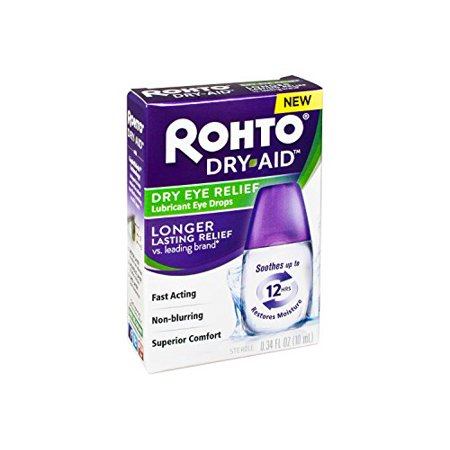 Rohto Dry Aid Dry Eye Relief Lubricant Eye Drops Up to 12 Hours 0.34