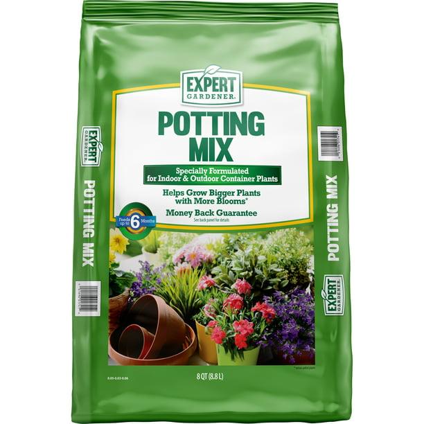 Expert Gardener Indoor And Outdoor Potting Soil Mix 8 Quart Bag