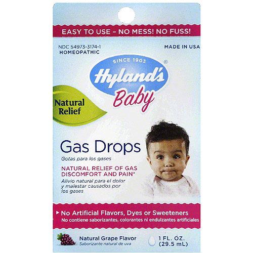 Hyland's Baby Natural Grape Flavor Gas Drops, 1 fl oz