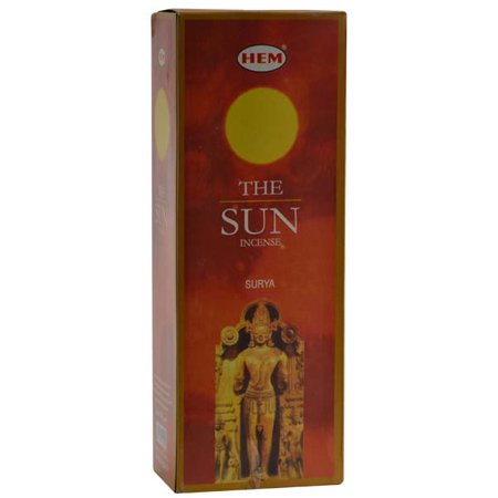 HEM Incense The Sun 20pk Sticks Bring Cinnamon Spice Sandalwood Warm Harvest Time of Ancient Earth Create Relaxing Atmosphere Into Your Home Prayer Meditation (Cinnamon Incense)
