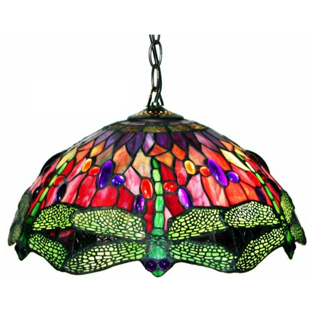 Warehouse of Tiffany Dragonfly Red 305C Pendant Light