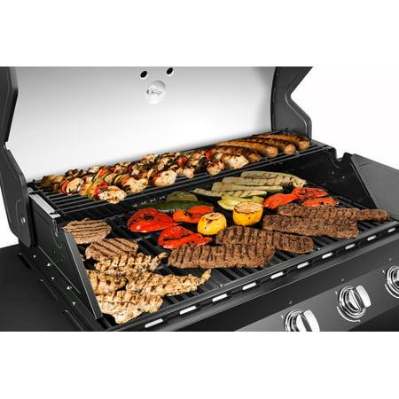 Dyna-Glo 4 Burner Propane Gas Grill w/ Side Burner - Premier Outdoor BBQ Grill