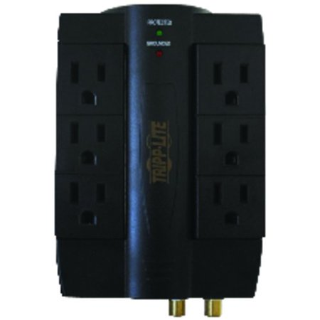 Tripp Lite HTSWIVEL6 6-Outlet Swiveling Surge Suppressor with Coaxial and Telephone Protection