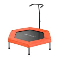 Upper Bounce 50-Inch Fitness Trampoline, with Adjustable Hand Rail