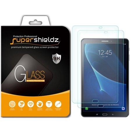 [2-Pack] Supershieldz for Samsung Galaxy Tab A 10.1 (SM-T580/T587 Model 2016 Release) Tempered Glass Screen Protector, Anti-Scratch, Anti-Fingerprint, Bubble