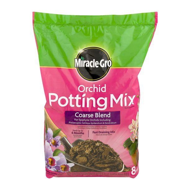 Miracle Gro Orchid Potting Mix Coarse Blend 8 Qt Feeds Up To 6