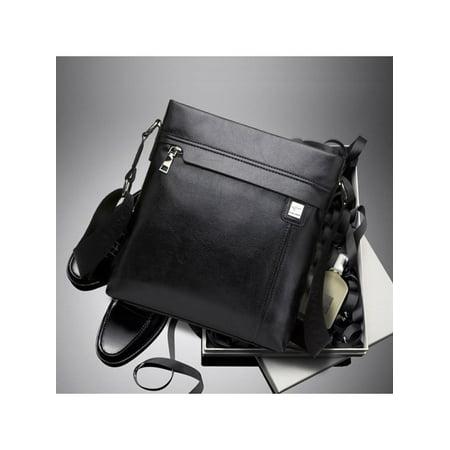 Men Genuine Leather Cowhide Vintage Office Bag Travel Shoulder Handbag Christmas - Cow Leather Purse