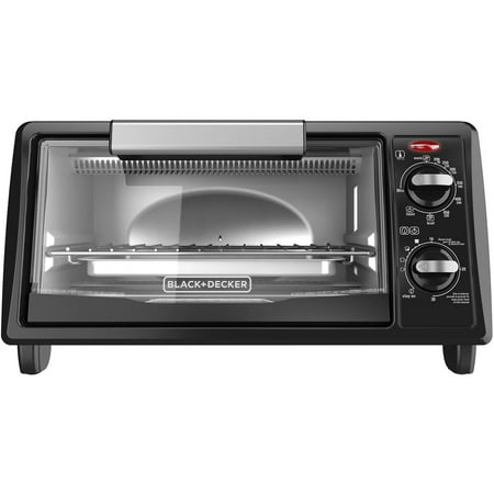 BLACK+DECKER 4-Slice Toaster Oven, Black, TO1342B