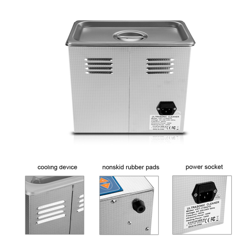 Digital Stainless Steel 3l Liter Industry Heated Ultrasonic Cleaner Recycled Circuit Board Clock Is Made From A Heater Timer