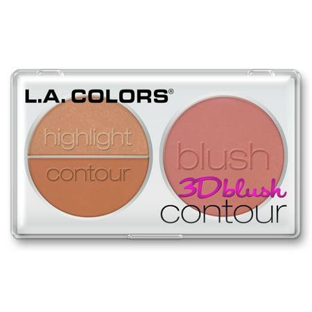 (2 Pack) LA Colors 3D Blush Contour, Sweetheart, 0.28 Oz