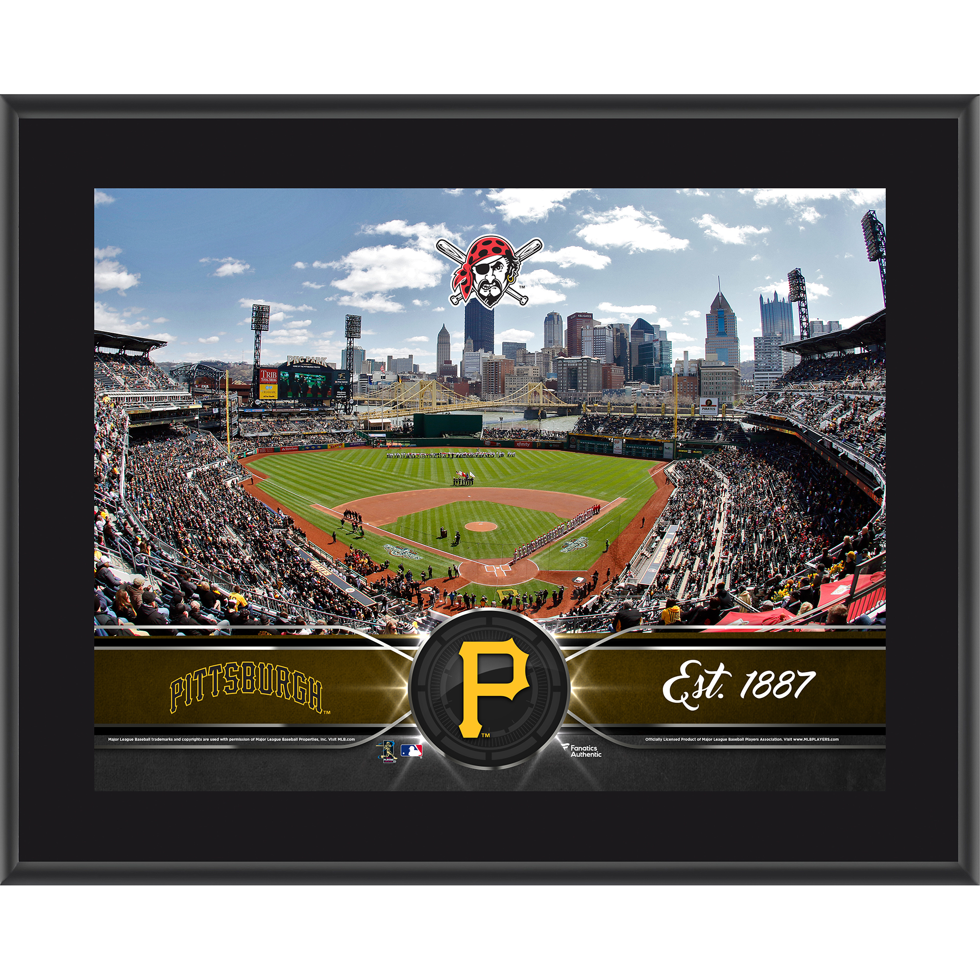 "Pittsburgh Pirates Fanatics Authentic 10.5"" x 13"" Sublimated Team Plaque - No Size"