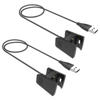 EEEKit 2 PCS USB Charger Charging Cable Cord For Fitbit Charge HR Bracelet Wristband