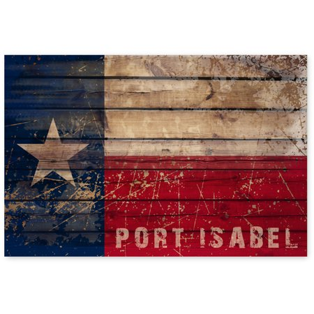 Awkward Styles Texas Flag Poster Wall Decor Port Isabel Unframed Picture Texas Souvenirs Made in USA Port Isabel City Flag TX Flag Wall Decor American Gifts The State of Texas Poster Print Art