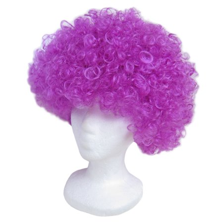 SeasonsTrading Economy Purple Afro Wig - Halloween Costume Party