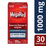 MegaRed Superior Omega-3 Krill Oil Softgels, 1000 Mg, 30 Ct
