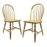 Winsome Wood Whitworth Windsor Chairs, Set of 2, Natural by Winsome Trading Inc