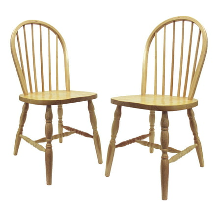 (Winsome Wood Whitworth Windsor Chairs, Set of 2, Natural)