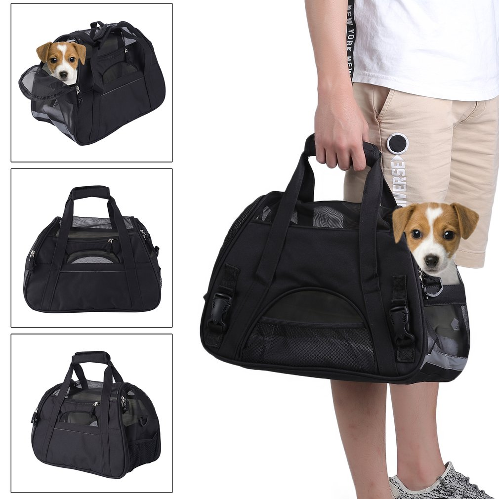 Breathable Pet Cage Foldable Dog Travel Booster Bag Cats Car Seat Carrier Portable Comfortable Pet Storage Bag