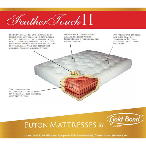 Gold Bond Feather Touch 9'' Futon Mattress