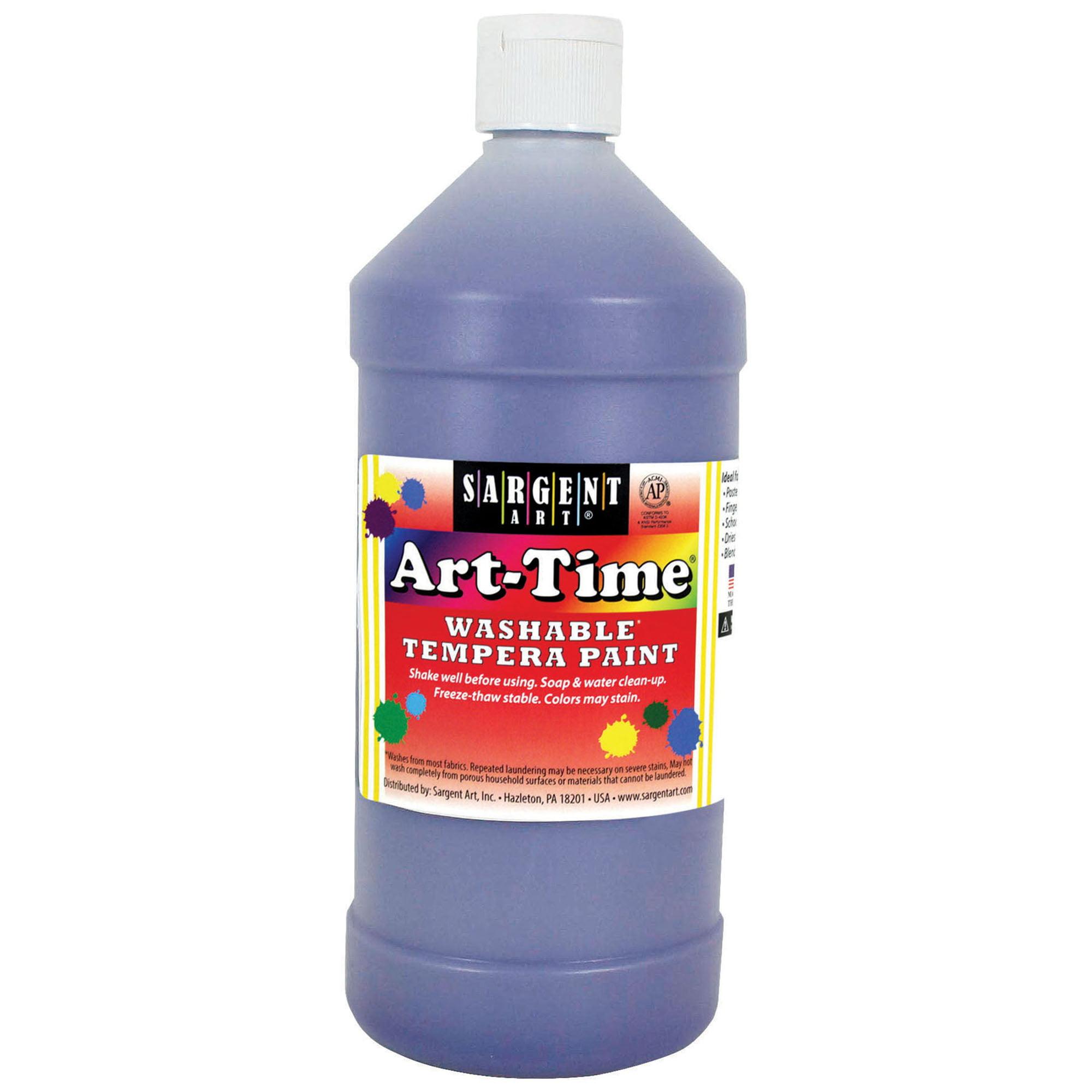 Art-Time® Washable Tempera Paint, Violet - 32 oz., 6/pkg
