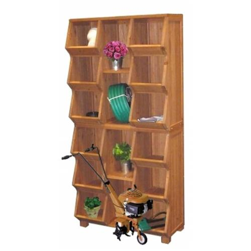 Merry Products MPG EF01L Storage Cubby with Oil Based Stain