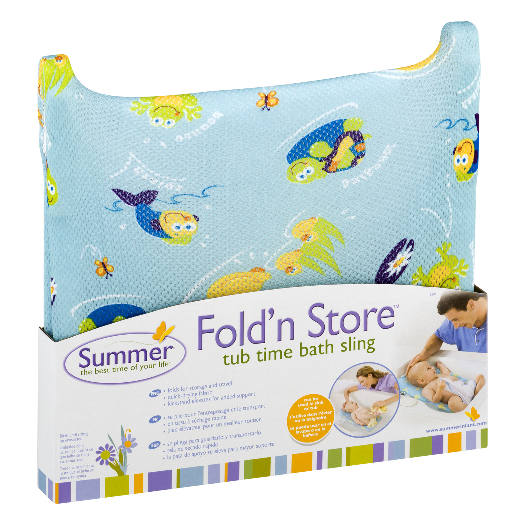 Summer foldn store tub time bath sling 1 0 ct walmart com