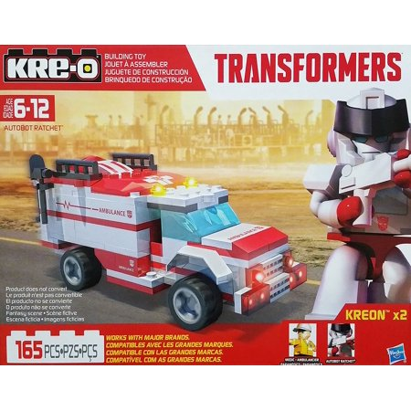 Kre-o transformers autobot ratchet ambulance building toy stop.