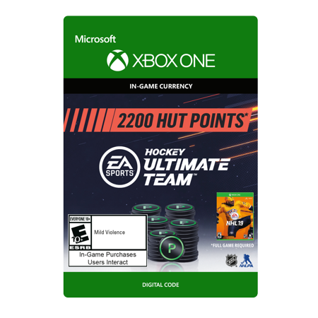 NHL 19 Ultimate Team NHL Points 2200, Electronic Arts, XBOX One, [Digital