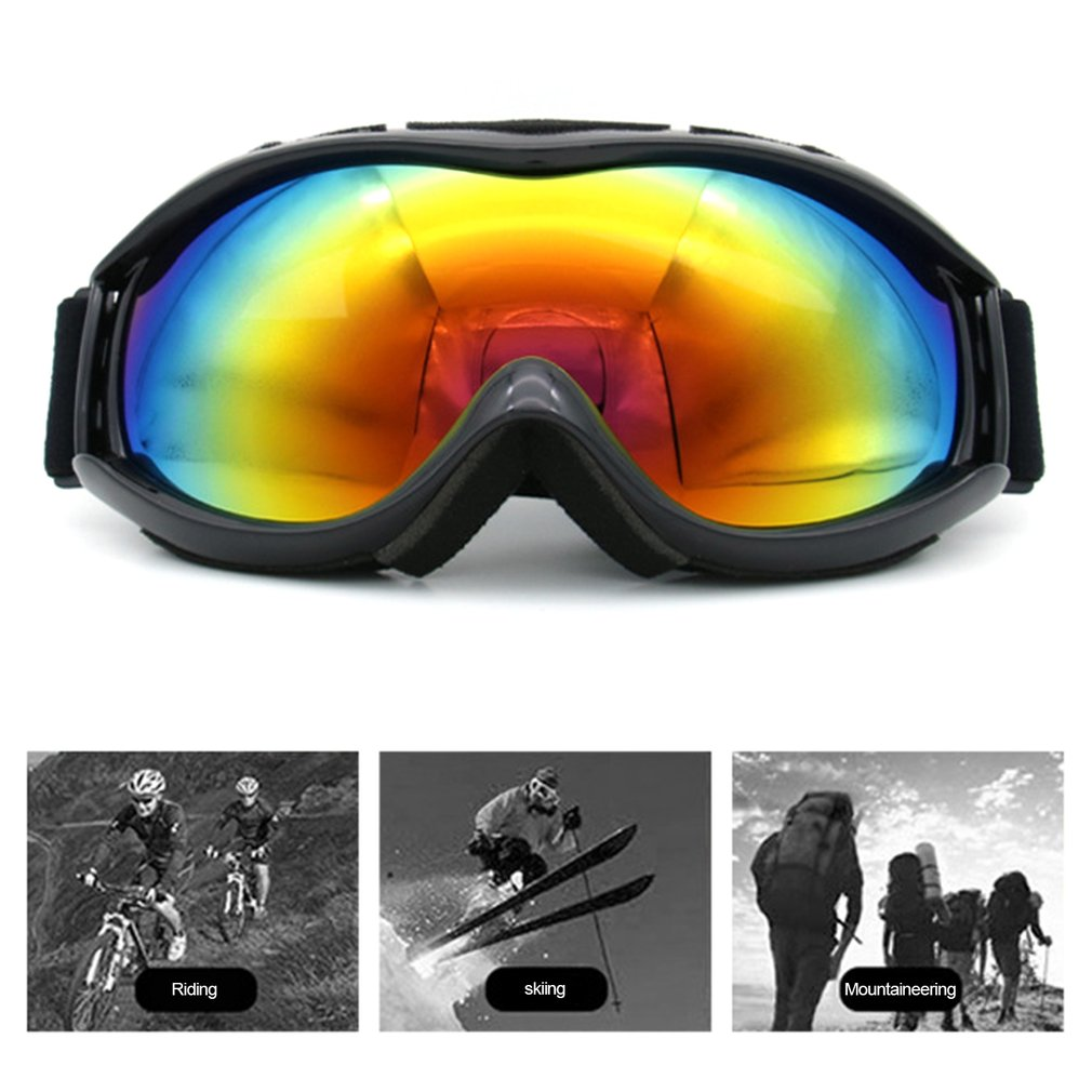 Skiing Goggles TS-013 Double Layer Lens UV400 Anti Fog Unisex Snowboard Ski Glasses Windproof Spherical Surface Goggles by