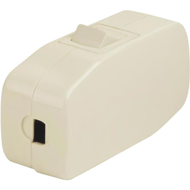 Leviton Manufacturing 871822 3A Ivory Feed-Through Cord Switch