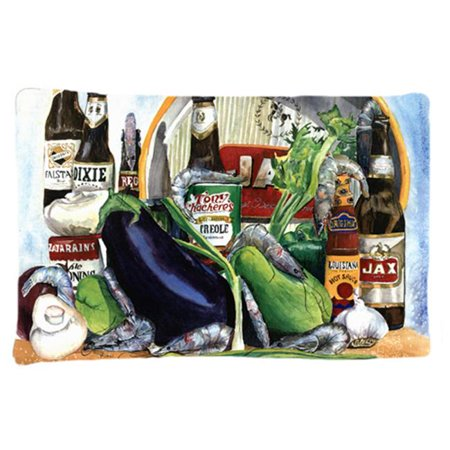 Carolines Treasures 1007PILLOWCASE 20.5 x 30 in. Eggplant and New Orleans Beers Moisture Wicking Fabric Standard Pillow Case - image 1 of 1