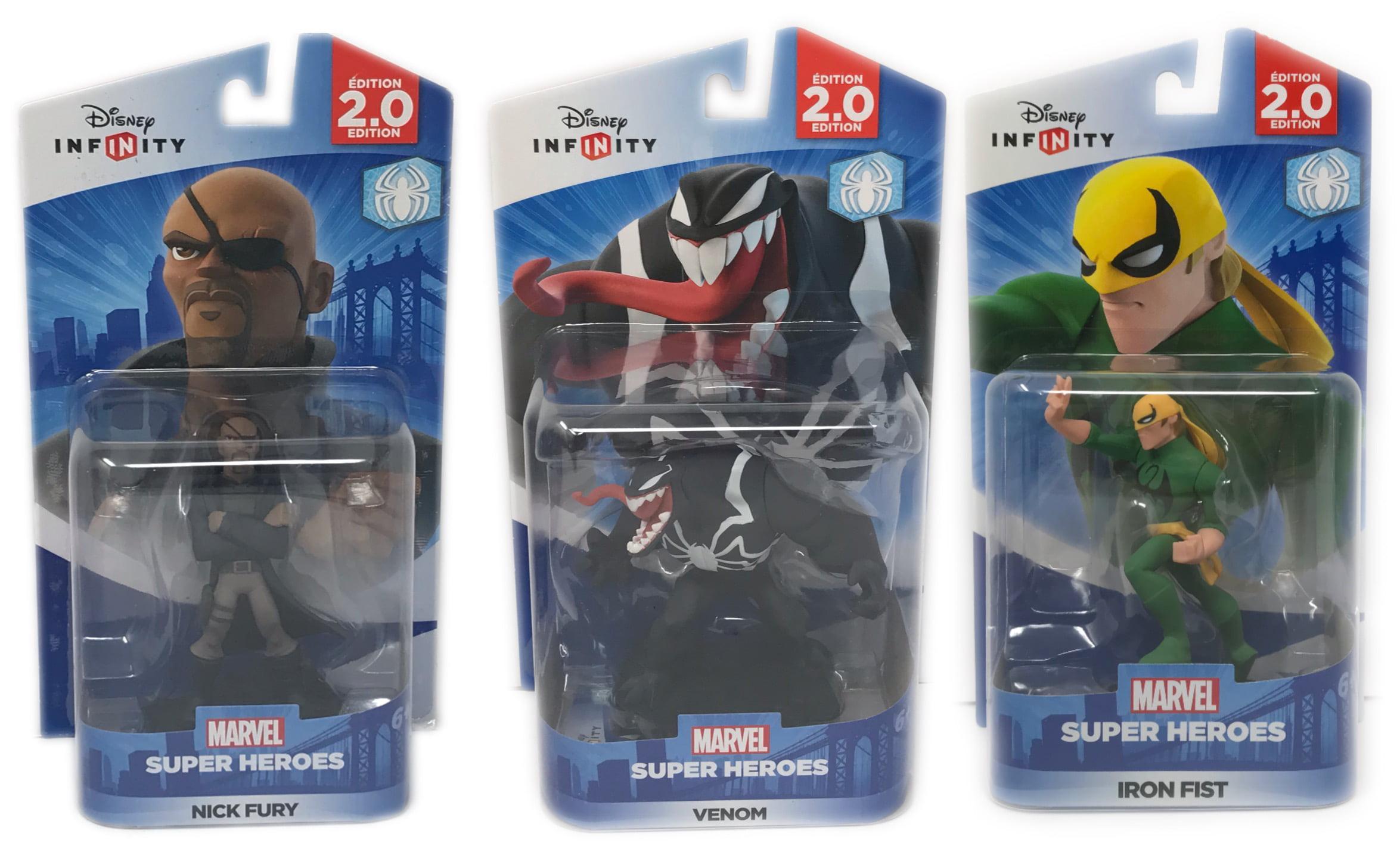 Disney Infinity 2.0 Marvel Super Heroes Venom, Nick Fury, Iron Fist Brand New! by