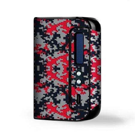 - Skin Decal Vinyl Wrap for Smok Osub King 220W Vape Kit skins stickers cover / Digi Camo Sports Teams Colors digital camouflage Red Grey Black