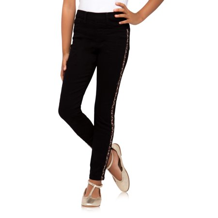Wonder Nation Animal Side Stripe Pull-on Jegging Jean (Little Girls, Big Girls & Plus) ()
