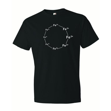 Men's Ferrous Wheel. FE+2 Iron. Chemistry Humor Ferris T-Shirt-Black-Large (Ferrous Wheel Shirt)