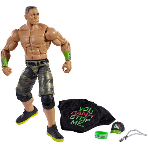 WWE Elite Collection John Cena Action Figure with You Can't Stop Me Accessories