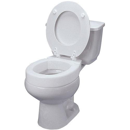black and white toilet seat.  AquaSense Portable Raised Toilet Seat White 1ct Walmart com