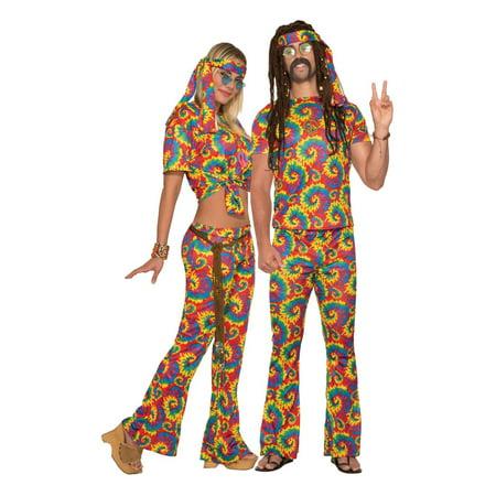 Adult Unisex Tie Dye Hippie Halloween - Ideas For Homemade Hippie Halloween Costumes