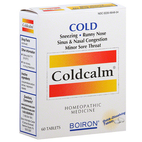 Boiron coldcalm reviews