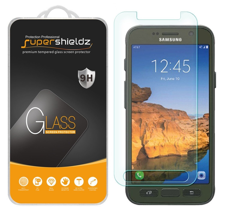 [2-Pack] Supershieldz Samsung Galaxy S7 Active Tempered Glass Screen Protector, Anti-Scratch, Anti-Fingerprint, Bubble Free