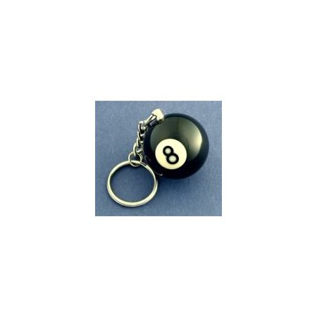 8 Ball Keychain, Measure approx 1-1/4 in diameter By Joissu