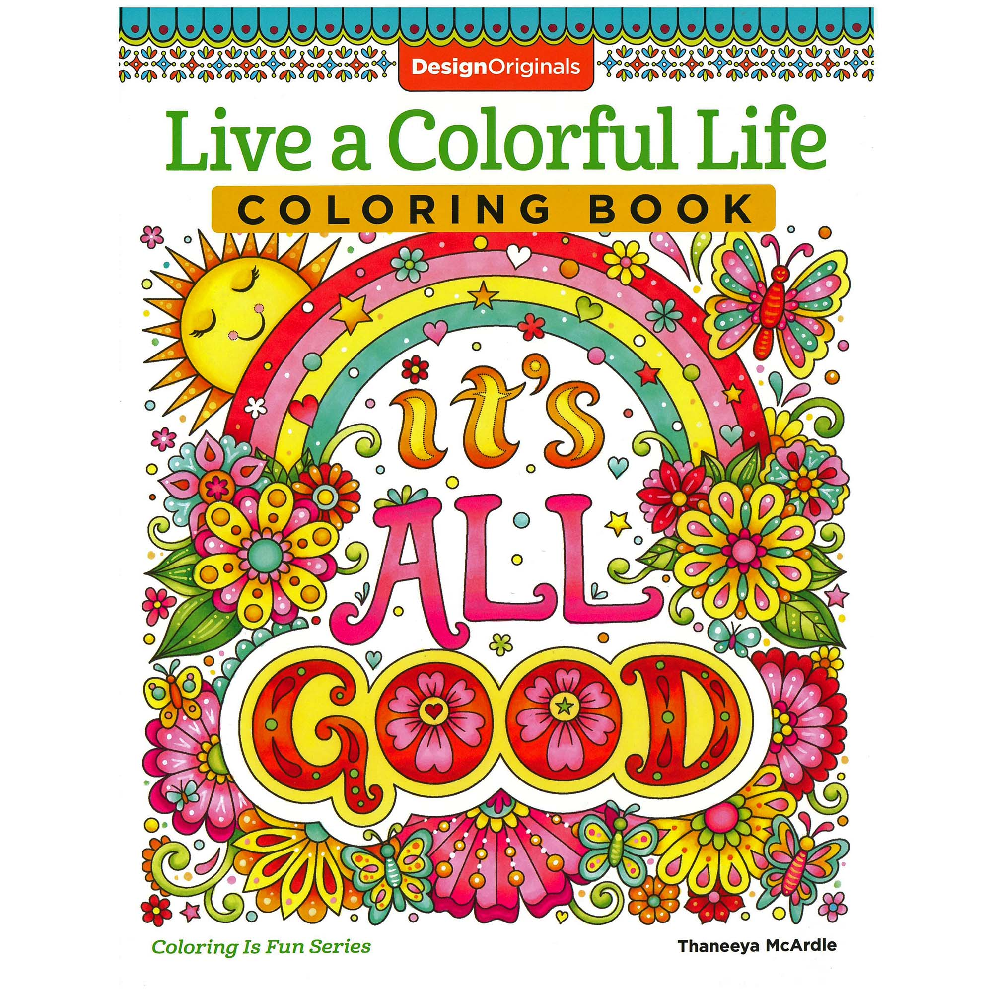 - Live A Colorful Life Adult Coloring Book - 40 Intricate Patterns, Designs,  And Positive Phrases - 80 Perforated Pages - Walmart.com - Walmart.com