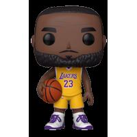 "Funko POP! NBA: Lakers - 10"" LeBron James (Yellow Jersey) - Walmart Exclusive"