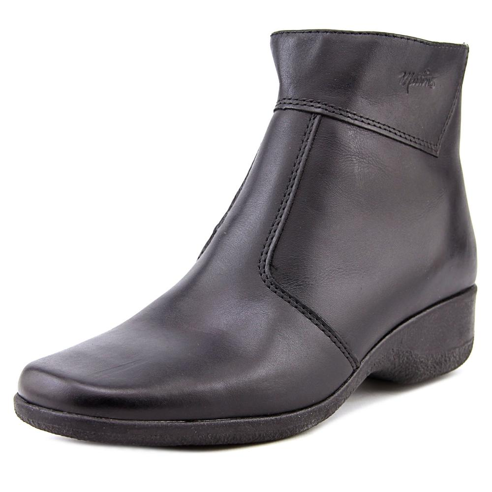 MARTINO Marsha Women N/S Round Toe Leather Black Ankle Boot