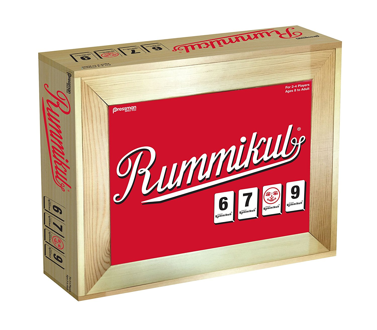 Rummikub: Dlx Lg Number in Wooden Box, Easy-to-see tiles for young and old By Pressman Toy by