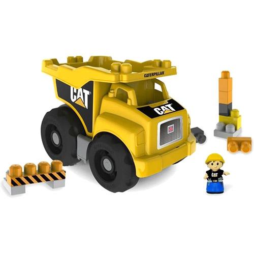 Mega Bloks Caterpillar Large Dump Truck with 25 Building Blocks - DCJ86