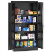 "Tennsco Full-height Standard Storage Cabinet - 36"" X 18"" X 72"" - Security Lock - Black (7218BK)"