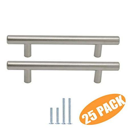 Probrico Solid Stainless Steel 3 3 4 Hole Centers Brushed Nickel Kitchen Cabinet Pulls Euro Bar Pulls Modern Drawer Dresser C Walmart Canada