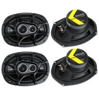 Kicker 41DSC6934 D-Series 6x9-Inch 360W Speakers (4-pack)