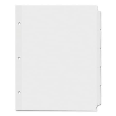Tabs 5 Tab Letter (Universal Economy Tab Dividers, 5-Tab, Letter, White, 36 Sets/Box)